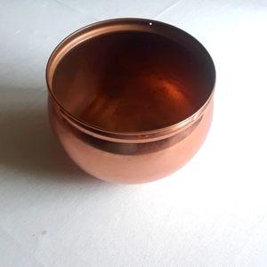 Round Copper Hanging Planter